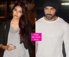 John Abraham Athiya Shetty and Lauren Gottlieb spotted at the airport  View HQ pics