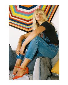 Bared Footwear Tangerine Brolga Heels - Anna Feller