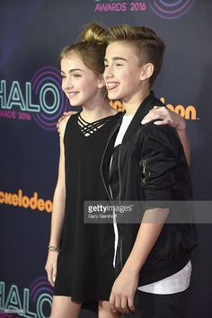 Lauren Orlando and Johnny Orlando attend the Nickelodeon Halo Awards 2016 at Pier 36 on November 11, 2016 in New York City.
