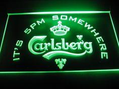 Carlsberg It's 5pm Somewhere Beer Light Sign