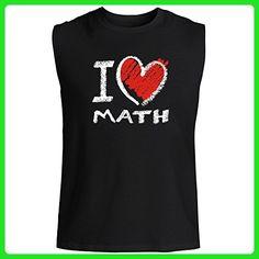 Idakoos - I love Math chalk style - Hobbies - Sleeveless T-Shirt - Math science and geek shirts (*Amazon Partner-Link)