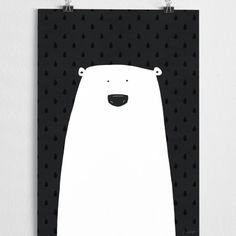 Polar bear art print poster - unframed (assorted sizes) | room to decorate | scandinavian and vintage designed homewares - online shop