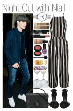 """""""• Night Out with Niall"""" by dianasf ❤ liked on Polyvore featuring New Look, Yves Saint Laurent, Uncommon, Nixon, Tom Ford, LORAC, NARS Cosmetics, Lord & Berry, Kevyn Aucoin and Clarins"""