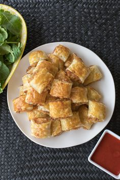 """Thermomix Finger Food - Ham and Cheese """"Sausage Ball"""" Bites Recipe from The 4 Blades. Cheese Sausage, Ham And Cheese, Family Meals, Kids Meals, Rough Puff Pastry, Sausage Balls, Good Food, Yummy Food, Puff Pastry Recipes"""