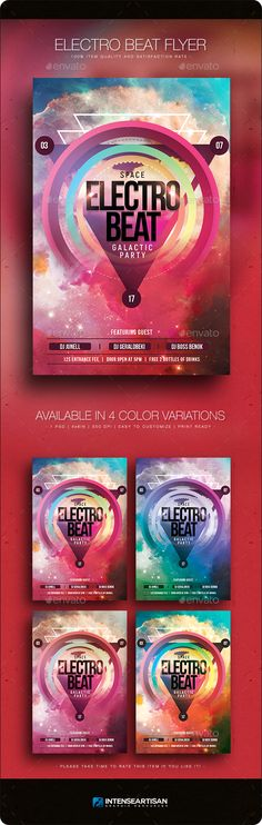 Space Electro Beat - Flyer Template PSD