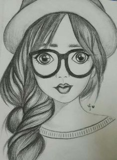 Easy Pencil Drawing - Pencil Portrait Art Drawings Sketches Girly Drawings Girl Easy Pencil Drawing For Beginners A Girl With Umbrella Step By Ariana Grande Drawing Pencil . Easy Pencil Drawings, Pencil Sketch Drawing, Girl Drawing Sketches, Girly Drawings, Art Drawings Sketches Simple, Realistic Drawings, Cartoon Drawings, Pencil Shading, Drawing Drawing