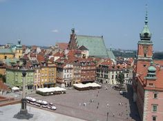 Old Town. Warsaw, Poland. After Hitler destroyed it, they rebuilt it to look as it did before. Beautiful.