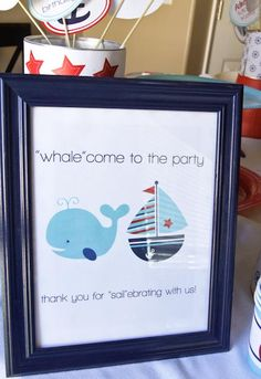 K.I.S.S. {Keep It Simple, Sister}: Oh buoy, he's one! {whales and sails birthday party} @Meagan Marler