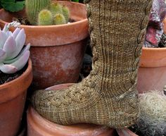 """Gollum socks by Claire Ellen. These are on my """"must knit"""" list."""