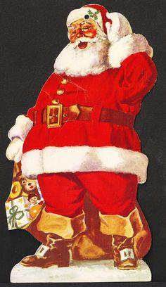 Santa Claus Trade Card Circa 1930s