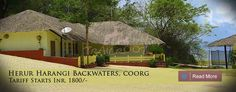 Herur Harangi backwater resort, Coorg is located at the splendid beauty of Harangi Backwater surrounded by dense forest and coffee plantation near Kushalnagar of Kodagu (Coorg) district.
