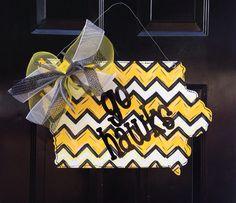 "Iowa State Hawkeyes ""Go Hawks"" Door Hanger"