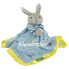 Personalized Monogrammed Goodnight Moon Bunny Snuggle Blanket with Name Embroidery Baby Shower Gift for Baby Girl or Baby Boy by Knextion on Etsy Toddler Toys, Baby Toys, Teething Pacifier, Name Embroidery, Snuggle Blanket, Good Night Moon, Baby Girl Gifts, Toy Store, Snuggles