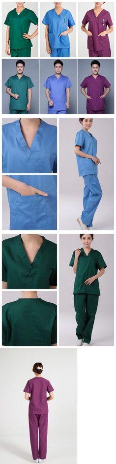 739fd04b1e8 Sets 105432: Men Women Medical Hospital Nursing Clinic Scrub Set Uniform  Unisex Tops And Pants