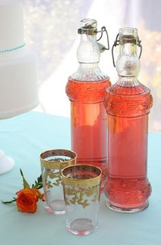 Home made strawberry cordial