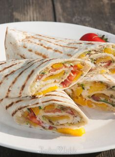 Wraps met hummus en gegrilde groenten - Keuken♥Liefde