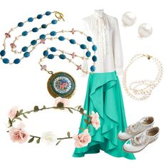 fancy lady by siarai on Polyvore featuring polyvore fashion style Dolce&Gabbana Monique Lhuillier STELLA McCARTNEY Tiffany & Co. Accessorize