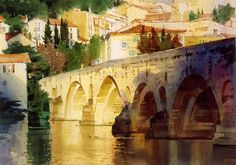 Watercolor Artist Directory | BoldBrush Painting Competition Winner - April 2012 | Bridge at Beziers ...