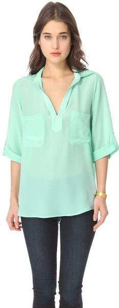RORY BECA  Green Laura Slouch Pocket Tunic