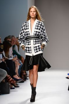 On the Hunt for Houndstooth: Balmain S/S 2014 Runway Show