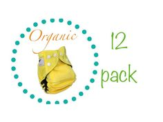 Organic Cloth Diaper One Size fits from Newborn to 3 by Momgaroo