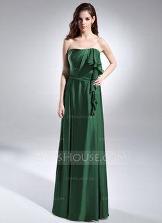 Evening Dresses - $129.69 - A-Line/Princess Strapless Floor-Length Charmeuse Evening Dress With Cascading Ruffles (008015596) http://jjshouse.com/A-Line-Princess-Strapless-Floor-Length-Charmeuse-Evening-Dress-With-Cascading-Ruffles-008015596-g15596