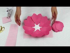 Paper Flower Tutorial using Template #19 - YouTube