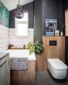 Sitting Pretty: Types of Toilets and Factors You Should Consider - Home Dekor Small Bathroom Decor, Tiny Bathrooms, Bathroom Color, Small Bathroom Makeover, Bathroom Decor, Bathroom Makeover, Small Bathroom Layout, Wall Treatments, Modern Baths