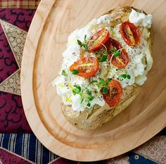 Baked Potato with Ricotta and Tomatoes | 16 Baked Potato Recipes To Drool Over
