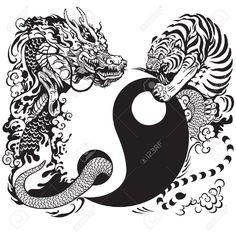 Afbeeldingsresultaat voor yin yang tattoo patronen