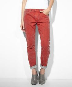 Boyfriend Skinny Jeans - Earth Red - Levi's - levi.com