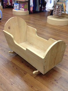 """Wooden Bassinet! Perfect """"Before"""" project! Kid to Kid price $39.98!"""
