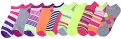 K. Bell Womens Mix and Match 5 Pairs No Show Socks