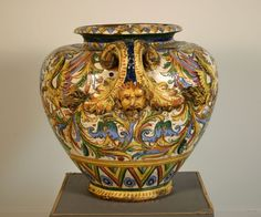 A Rare Italian Majolica Vase
