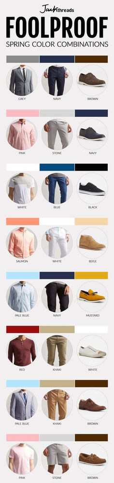 With spring around the corner, here are some spring colour combinations you should be following!