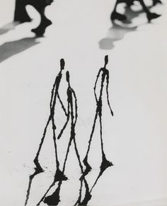 """Alberto Giacometti's Strollers, Paris"" - photo by Gordon Parks,1951"