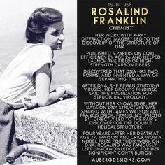 Rosalind Franklin, DNA's Dark Lady #womeninstem #womenshistorymonth http://ift.tt/1BvlPGz