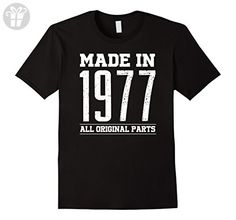 Men's 40th Birthday gifts shirt Made in 1977 40 years old tshirt  XL Black - Birthday shirts (*Amazon Partner-Link)