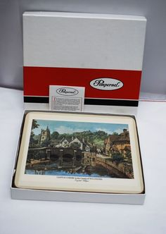 English Villages Set of  6 Cork Placemats  by Pimpernel England 8 1/2 x 7 1/2
