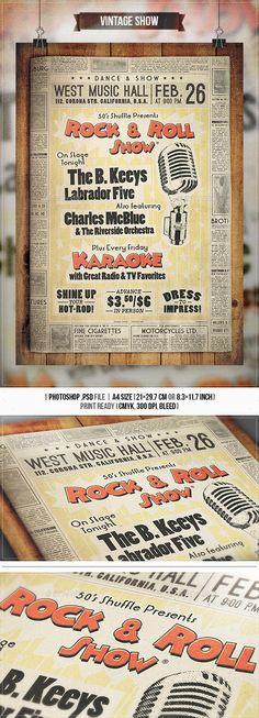 Grunge Core Rock Concert Flyer Concert flyer, Rock concert and - discount flyer template