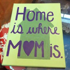 Canvas I painted for my mom for mother's day -- discovered I am certainly no artist.