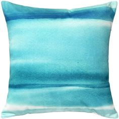 Pillow Decor Lost Horizon Blue Throw Pillow 20x20 (£40) ❤ liked on Polyvore featuring home, home decor, throw pillows, fabric home decor, blue throw pillows, ocean home decor, blue toss pillows and blue accent pillows