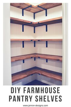 Check out the… Farmhouse Pantry Shelves DIY Farmhouse Pantry Shelves. Check out the…,morales Farmhouse Pantry Shelves DIY Farmhouse Pantry Shelves. Check out the full. Pantry Makeover, Home Design Decor, Diy Home Decor, Design Ideas, Interior Design, Design Layouts, Room Decor, Farmhouse Style, Farmhouse Shelving
