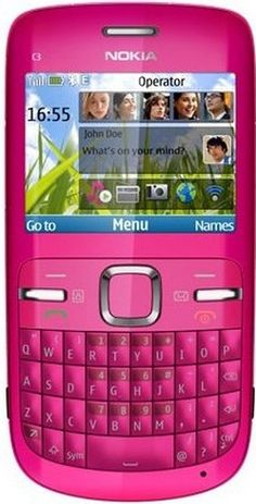 Nokia C3-00 Unlocked Cell Phone with QWERTY, Dedicated E-mail Key, 2 MP Camera, Media Player, WiFi, and MicroSD Slot--international Version with Warranty (Pink) - For Sale