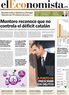 Los Titulares y Portadas de Noticias Destacadas Españolas del 24 de Enero de 2013 del Diario El Economista ¿Que le parecio esta Portada de este Diario Español?