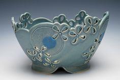 Kristen Kieffer Pierced basket Blue Mishima kimono