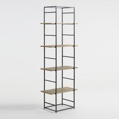 Exuding an industrial-minimalist appeal, our modular Adalene shelving features fully adjustable shelves.