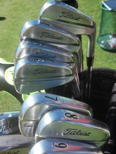 "September 3, 2013: ""i have been secretly playing these for 2 months #newirons #teamtitleist @TitleistEurope,"" revealed European Tour player Thomas Levet (@thomaslevetgolf) as he showed off his new Titleist MB 714 irons."