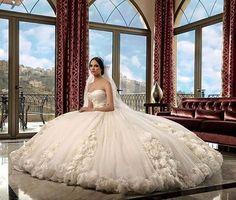 A Gown fit for a princess from #RamiSalamoun  #Platinumweddingmagazin #Weddings #dresses
