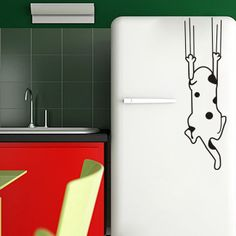 Cartoon child real wall sticker refrigerator stickers wardrobe glass stickers decoration dog-inWall Stickers from Home & Garden on Aliexpres...